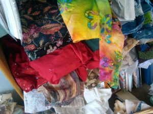 What a mess! There is so much ugly fabric here...