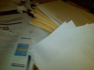 Writing piles