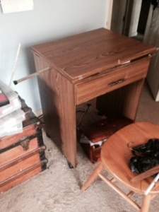 Goodbye to my old  sewing table.
