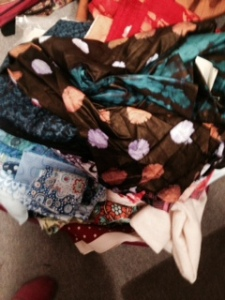 My new African fabric stored away.