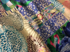 I have no idea what these fabrics are since I can't find the pattern or the original fabrics.