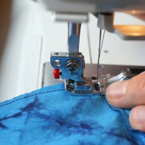 sewing on a mchine