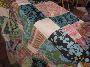 Garden Quilt. I have got to look up which fabrics are these.