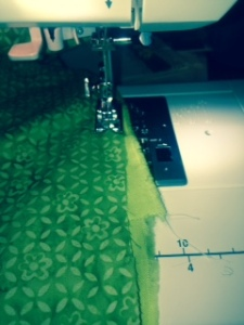 This is me trying to sew an extra 4-6 inches on one quilt as I try to get it ready for Quiltify.