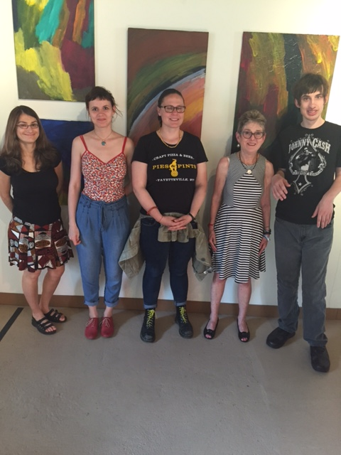 Artists at the Ice Cream Factory on May 10, 2015